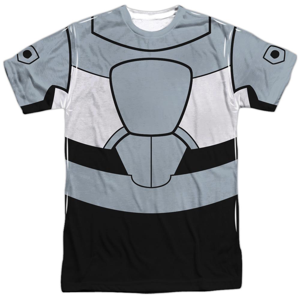 3ef5bb84643f DC Comics Teen Titans Go Cyborg Uniform (Front Back Print) Mens Sublimation  Shirt